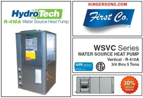 1.5 Ton 13 EER Water Source Heat Pump First Co Hydro-Tech WSVC018C2RH Similar to Mcquay Geothermal