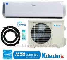 KSIO018H221 Klimaire 18000 Btu 21 SEER DC Inverter Ductless Mini Split Heat And Cool System
