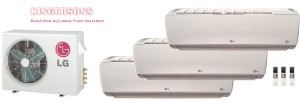 LG TRI ZONE LMU36CHV LSN120HSV4 (TWO) LSN180HSV4 Ductless Split System