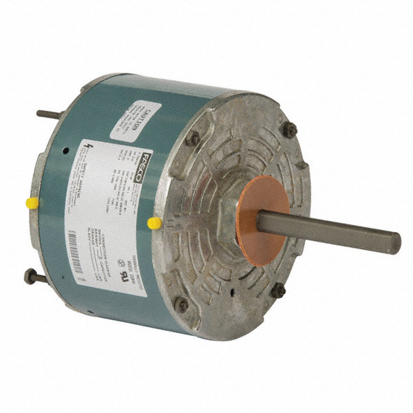 FASCO 1/10 HP Condenser Fan Motor, Permanent Split Capacitor, 825 Nameplate RPM, 208-230 VoltageFrame 48