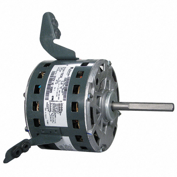 GENTEQ 1/3 HP Direct Drive Blower Motor, Permanent Split Capacitor, 1075 Nameplate RPM, 208-230 Voltage