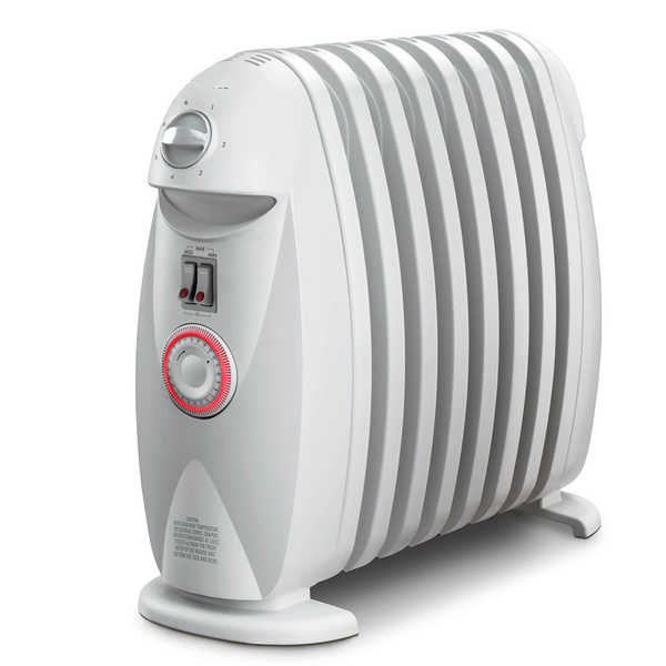 DeLonghi TRN0812T Safeheat 1200-watt Portable Oil-Filled Radiator with GFI Plug and Timer