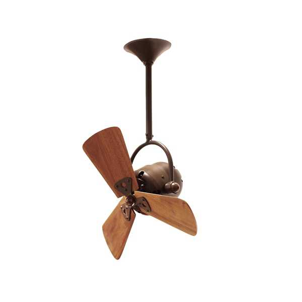 Mathews Fan Company Bianca Bronze Aluminum/Steel/Wood Ceiling Fan