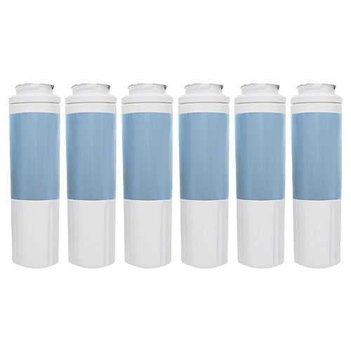 Replacement Water Filter Cartridge for Whirlpool WRX735SDBM02 Refrigerator - (6 Pack)