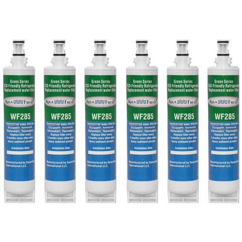 Aqua Fresh 4396508 New 6 Pack Replacement Filter for Whirlpool WF-NLC240V Filter Model
