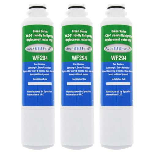 AquaFresh Replacement Water Filter for Samsung RF263BEAESR Refrigerator Model (3 Pack)