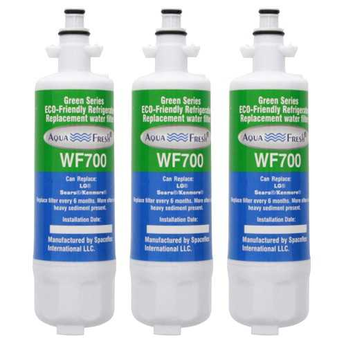 Aqua Fresh Water Filter For Kenmore 72123 Refrigerators - 3 Pack
