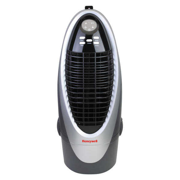 Honeywell CS10XE 21 Pt. Indoor Portable Evaporative Air Cooler with Remote Control - Silver/Grey