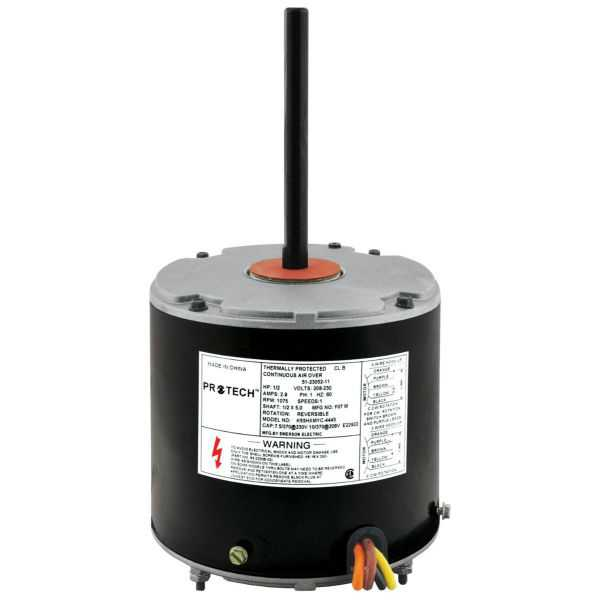 PROTECH 51-23052-11 - Condenser Motor - 1/2 HP 208-230/1/60 (1075 rpm/1 speed)