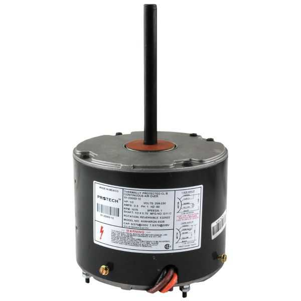 PROTECH 51-23053-12 - Condenser Motor - 1/3 HP 208-230/1/60 (1075 rpm/1 speed)