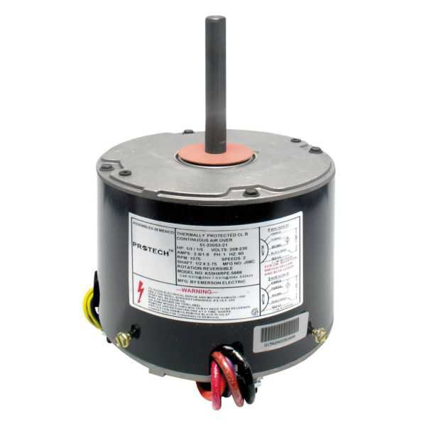 PROTECH 51-23053-21 - TRIPSAVER Condenser Motor - 1/6 to 1/3 HP 208-230/1/60 (1075 rpm/2speed)