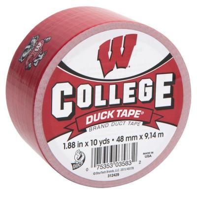 College 1-7/8 in. x 10 yds. University of Wisconsin Duct Tape