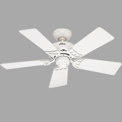 Hudson 42 in. White Ceiling Fan