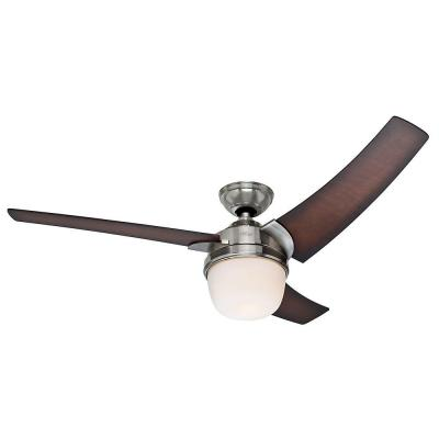 Eurus 54 in. Indoor Brushed Nickel Ceiling Fan