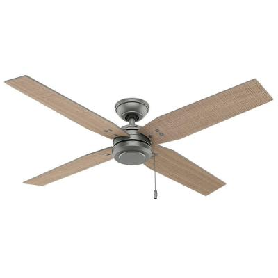 Commerce 54 in. Outdoor Matte Silver Ceiling Fan