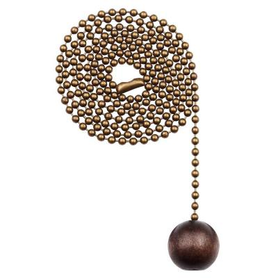 Walnut Wooden Ball Pull Chain