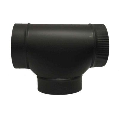 6 in. Black Stove Pipe Round Tee