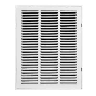 16 in. x 24 in. White Return Air Filter Grille, White