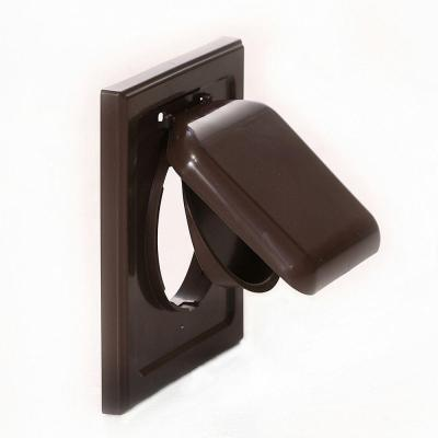 No Pest Vent 4 in. Wide-Mount Dual Door Wall Vent in Brown