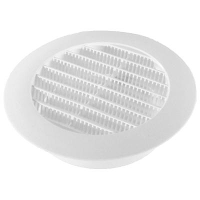 5 in. White Round Soffit Vent
