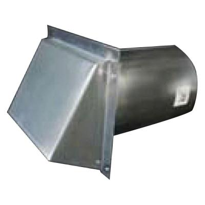 12 in. Round Galvanized Wall Vent with Spring Return Damper