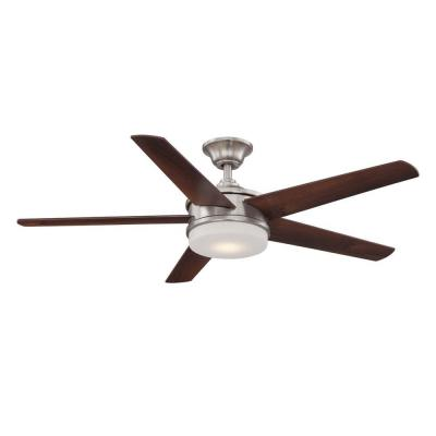 Davrick 52 in. LED Brushed Nickel Ceiling Fan
